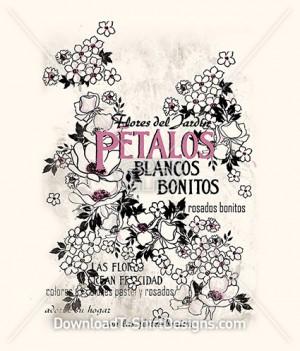 Decorative Vintage French Floral Petals