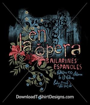 Vintage Decorative Flora French Opera