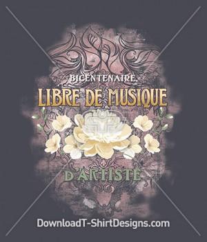 Decorative Vintage Floral Libre De Musique
