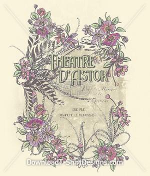 Decorative Vintage Floral Theatre Poster