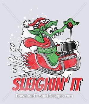 Sleighin It Christmas Festive Snow Monster