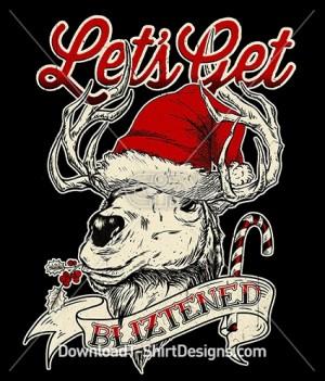 Let's Get Bliztened Christmas Festive Reindeer