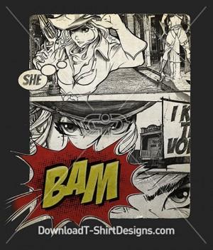 Pop Art Comic Sexy Woman Cowgirl