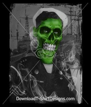 Scary Zombie Skull Sailor Navy Sea Ship