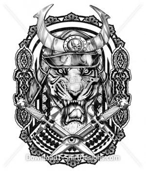 Viking Celtic Tiger Animal Head Tattoo