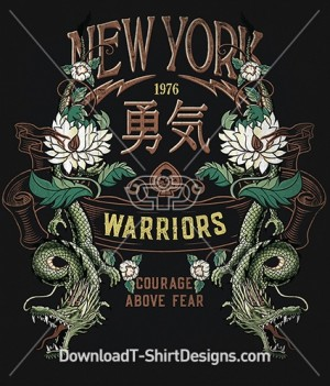 Japanese Oriental New York Dragon Banner