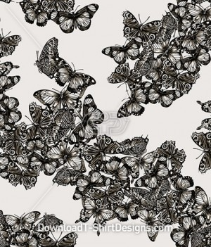 Butterfly Maze Seamless Pattern