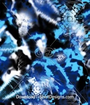 Tie Dye X-Ray Seamless Pattern