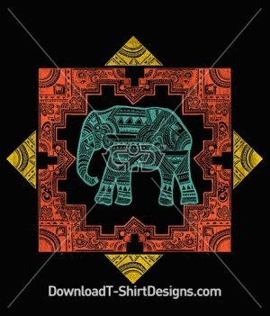 Ethnic Tribal Pattern Elephant