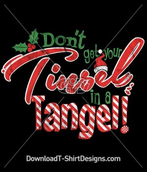 Tangled Tinsel Christmas Slogan Quote