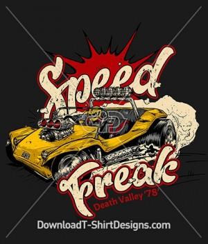 Retro Speed Freak Rally Car Race Driver