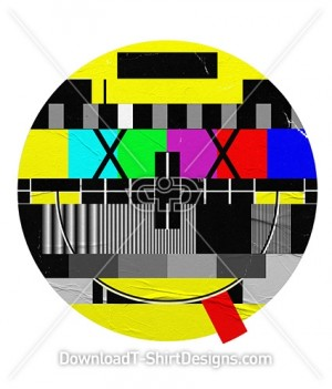 Television Test Pattern Happy Smiley Emoji Face