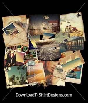 Road Trip Polaroid Photo Collage