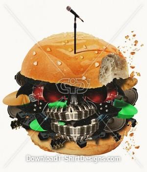 Music Instrument Food Burger