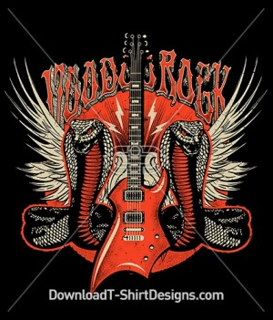 Voodoo Rock Music Cobra Snake Electric Guitar