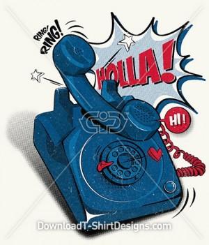 Retro Comic Telephone Ring