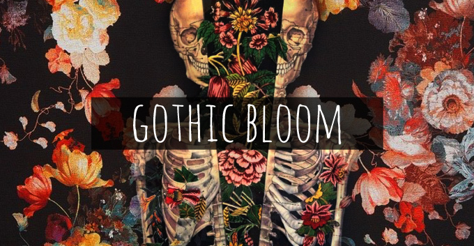 T-Shirt Design Trend Direction - Gothic Bloom