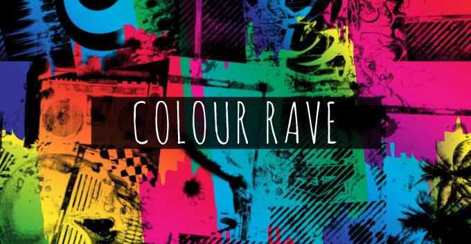 T-Shirt Design Trend Direction - Colour Rave