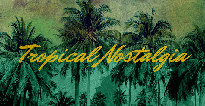 T-Shirt Design Trend - Tropical Nostalgia