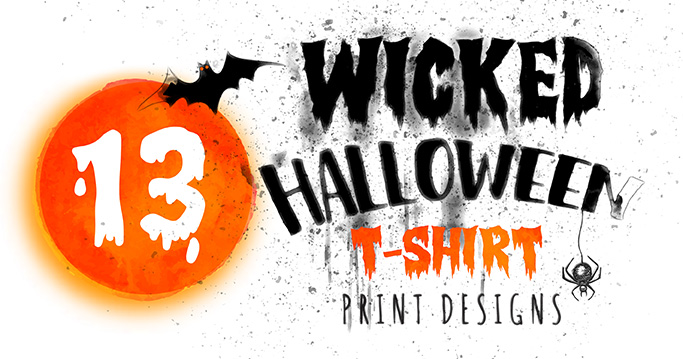 13 Wicked T-Shirt Print Designs for Halloween