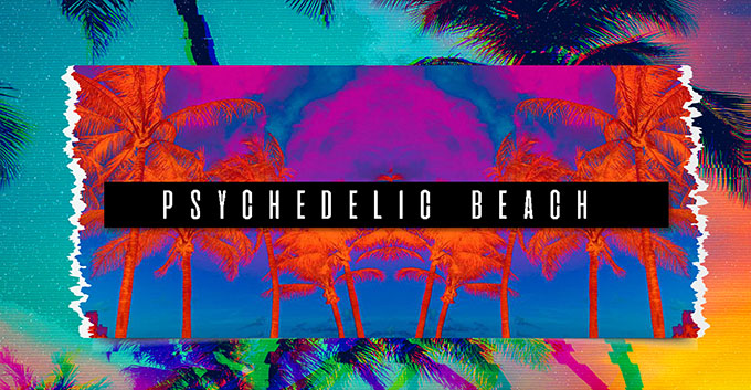 T-Shirt Design Trend - Psychedelic Beach