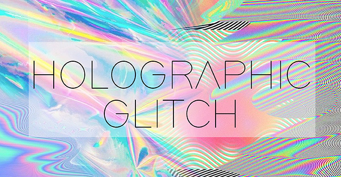 T-Shirt Design Trend - Holographic Glitch