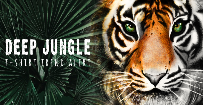 T-Shirt Design Trend - Deep Jungle