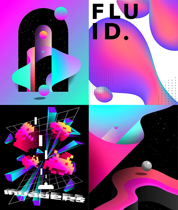download-t-shirt-designs-gradient-effect-3d-gradient